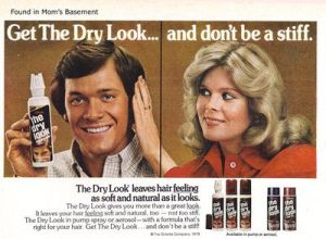 Advert for Men's Hair Product